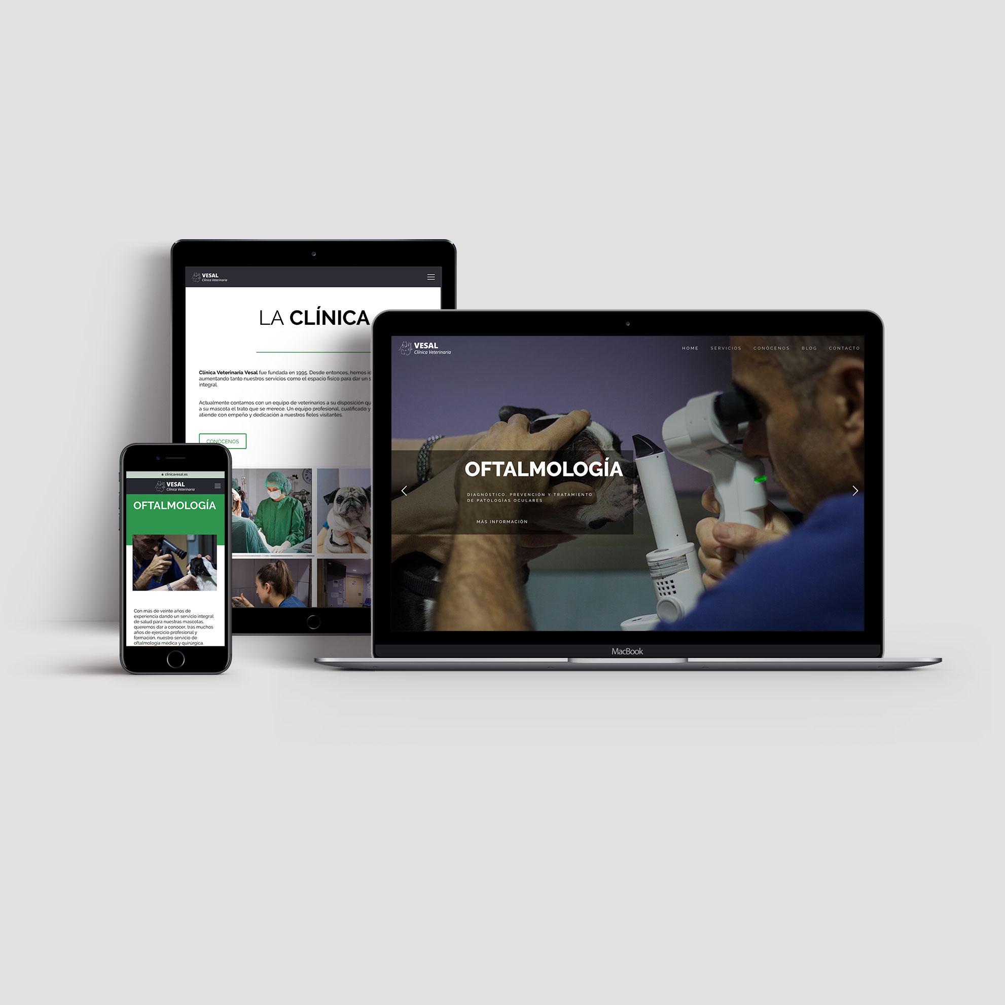 Página web para clínica veterinaria
