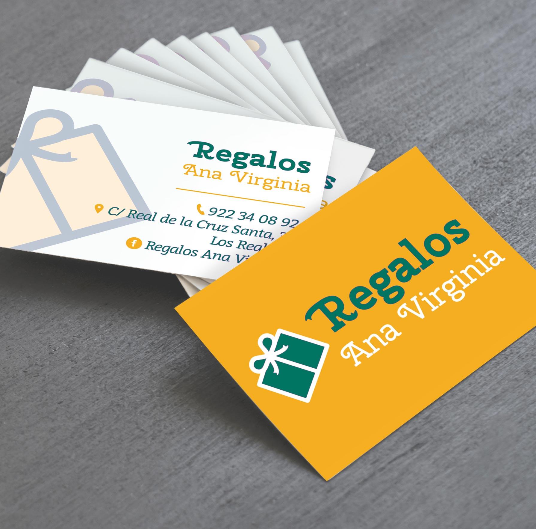 Diseño tarjetas de visita empresa regalos