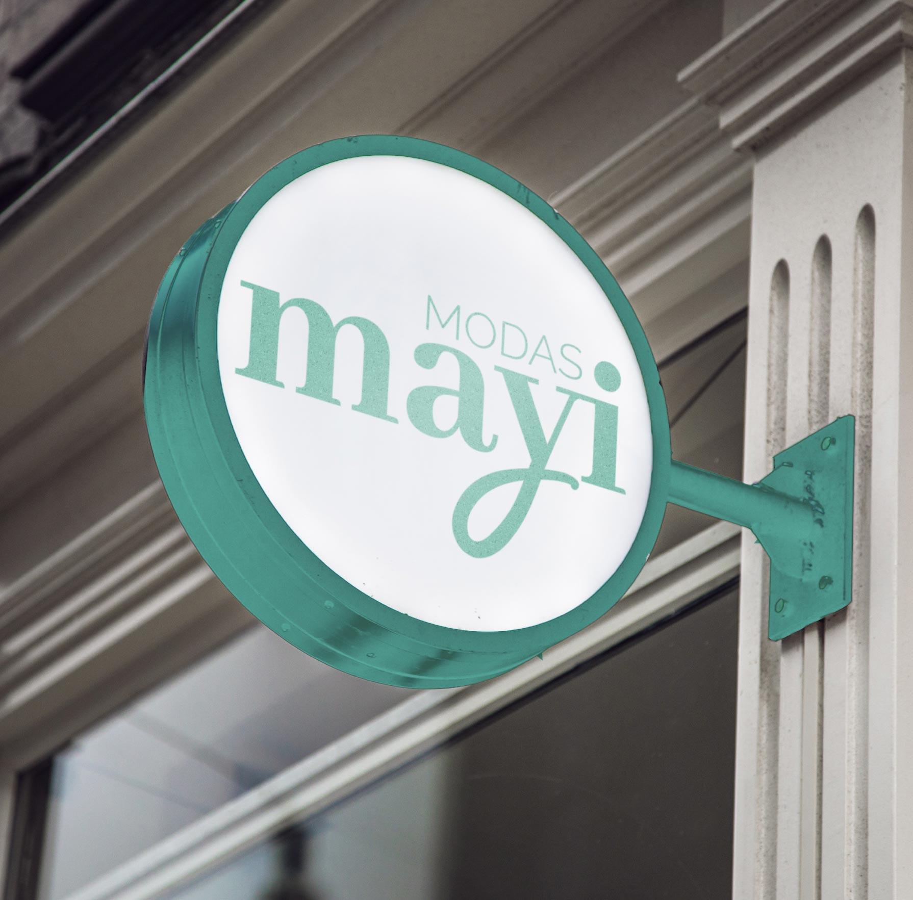 Diseño logo para Modas Mayi