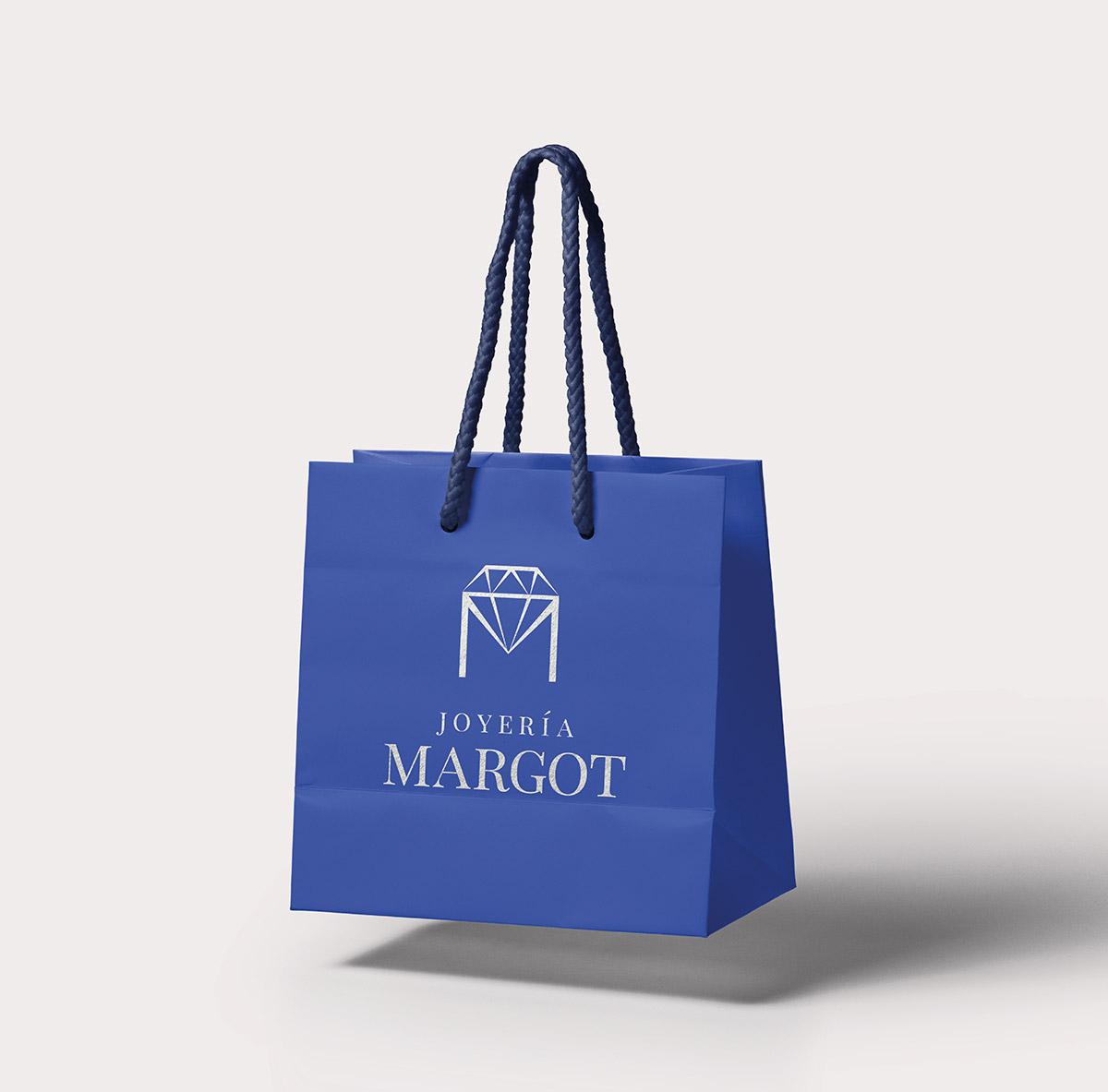 Bolsa con logotipo aplicado para Joyería Margot
