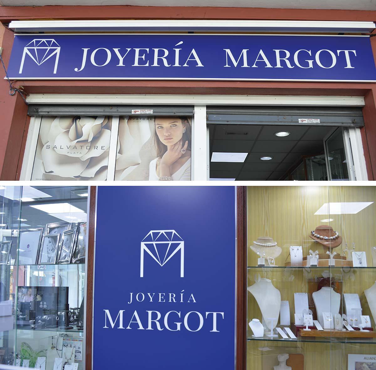 Diseño de cartelería para Joyería Margot