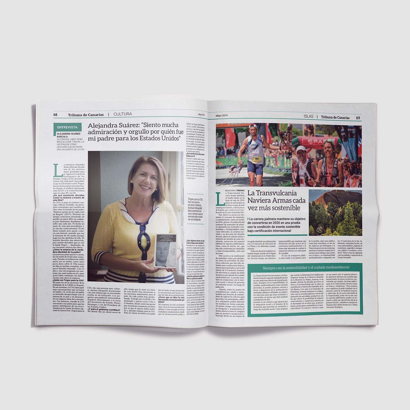 Diseño editorial periódico Tribuna